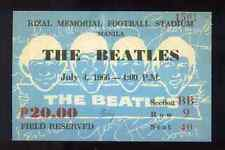 THE BEATLES REPRO 1966 MANILA PHILIPPINES 4 JULY CONCERT TICKET . JOHN LENNON
