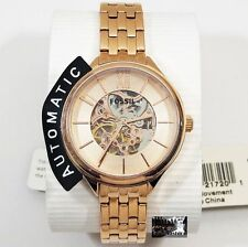 FOSSIL WOMEN'S BQ3052 AUTOMATIC STAINLESS ROSE GOLD TONE SKELETON WATCH  $225