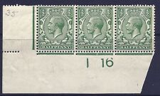 N14(1) ½d Green Control I 16 imperf UNMOUNTED MINT - Toned