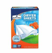 Member's Mark Fabric Softener Sheets Softens And Freshens Clothes 480 Count