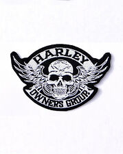 HARLEY DAVIDSON SKULL HOG EMBROIDERED PATCH
