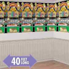 Casino Slot Machines Scene Setter Theme Party Hanging Wall Decoration Room Roll