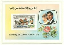 J Lady Diana B96 Mauritania 1982 MNH s/s imperf OVPT Royal Wedding