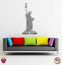 Wall Sticker New York Statue of Liberty Big Apple Modern Decor z1345