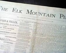 Very Rare GHOST TOWN Ruby Camp IRWIN Gunnison County Colorado 1881 Old Newspaper