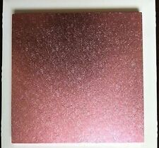 "10"" inch PINK SQUARE CAKE BOARD / DRUM and BOX  FAST NEXT DAY DESPATCH"