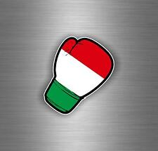 Sticker tuning boxing gloves jdm flag kick boxer decal car italy italia