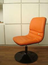 Stuhl Sessel NASA Orange Schwarz Designer 60er 70er Vintage Retro Chair