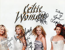 Celtic Woman REAL hand SIGNED 8x10 Photo w/ COA Emerald World Tour 4 Members 1