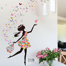 Butterfly Dancing Girls Mural Removable Wall Sticker Art Vinyl Decal Home Decor