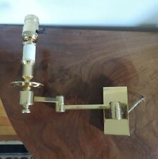 Brass Swing Arm Wall Light Lamp Sconce Mid Century Modern Traditional