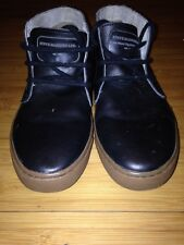 Steve Madden Upton Chukkas Mens Size 7 US Black Leather Excellent Condition