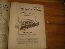 REVUE TECHNIQUE MECANIQUE RTA RENAULT DAUPHINE GORDINI R1091 de 1958 - 1959