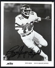 Bruce Harper #42 Jets Signed Official New York Jets 8x10 Photo Running Back