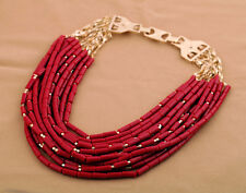 BLOGGERS FAV DESIGNER GORGEOUS MULTI ROWS RED BEADS NECKLACE – NEW