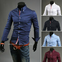 New Mens Smart Fashion Slim Fit Casual Business YSS Shirt-5 Colors