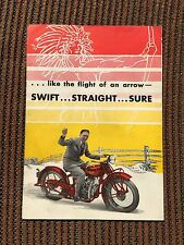 Antique 1930 Indian Chief Motorcycle Sales Brochure
