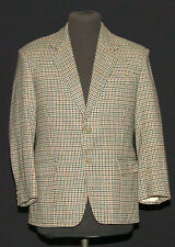 "VINTAGE DOGTOOTH WINDOWPANE CHECK TWEED SPORTS JACKET 40"" Short"