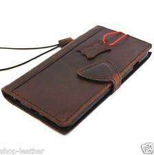 genuine oiled leather Case for apple iphone 6 plus book wallet slim cover 6s s R