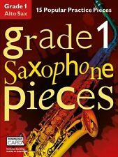 Grado 1 Alto Sassofono Pezzi Impara a giocare SAX MUSICA Exam BOOK & Download Card