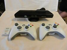 Microsoft XBox 360 Kinect #1414 with 2 wireless controllers, 1 Battery