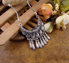 Women Fashion Jewelry Tibetan Vintage Silver Pld Charm Necklace Pendant 45cm