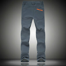 New Men's Soft Shell WaterProof Pants Breathable Climbing Outdoor Sport Trousers