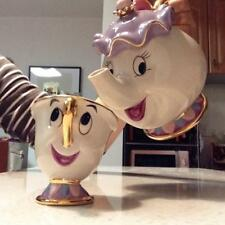 Beauty And The Beast Teapot Cartoon Mug Mrs Potts Chip Tea Pot Cup Set Gift New