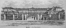 1891:MONZA=VILLA REALE=BRIANZA.LOMBARDIA.ITALIA.Xilo+Passepartout.Etna.Premoli