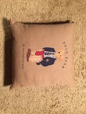 "Vintage Ralph Lauren Polo Bear ""Collegiate Bear"" Goose Down  Pillow...Cute❤️"