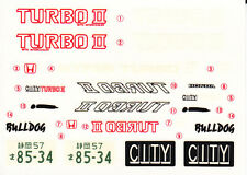 TAMIYA Decal 24044 1/24 Honda City Turbo II Billdog