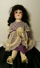 "Antique A&M Porcelain Head Doll 390 A5M W/ Composition Body 18 1/2"" Very Good"
