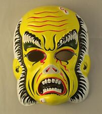 Vintage 1970's Phantom of the Opera Vacuform Plastic Halloween Mask