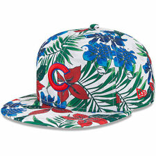 Chicago Cubs New Era Tropical Trip 9FIFTY Adjustable Snapback Hat - White - MLB