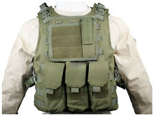 Tactical Molle Combat Vest Carrier Military Airsoft Paintball Assault Army OD