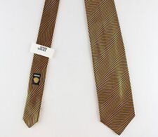 NWT rare GIANNI VERSACE first line silk TIE gold blue waves