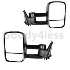 Manual 88-98 Chevy GMC C/K  Pickup Suburban Tahoe Yukon Towing Mirrors Set
