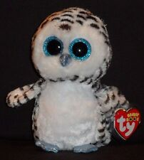 "TY BEANIE BOOS BOO'S - LUCY the 6"" OWL - JUSTICE EXCLUSIVE - MINT with MINT TAG"