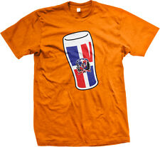 Dominican Republic Flag Beer Glass República Dominicana Cerveza Mens T-shirt