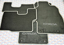 GENUINE Vauxhall CORSA D (07-14) CAR FLOOR / CARPET MAT SET - SILVER/BLACK - NEW