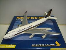 "Herpa Wings 400 Singapore Airlines SQ B747-400 ""1990s color - Megatop"" 1:400"