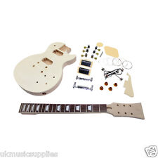 Electric Les P DIY guitar kit Flame Inlays Solid Top Maple with veneer HY101.