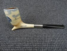 M - VTG Estate GoedeWaagen Ceramic Tobacco Pipe - blue delft windmill
