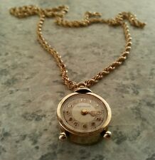 Swiss Antique 14kt Yellow Gold Necklace Watch. Fully FUNCTIONAL, Beautiful