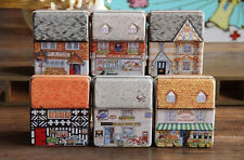 Children Dream House Tea Storage Tin Box Organizer for Jewelry Candy Container*1