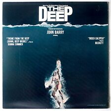 THE DEEP: Horror Soundtrack OST John Barry Vinyl LP BLUE VINYL VG++