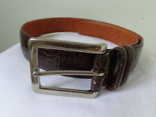 RALPH LAUREN Designer Genuine Leather BELT Chocolate Brown