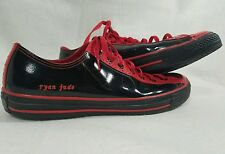 Converse All Star Chuck Taylor Black/Red Patent Leather Sneakers size 12  Rare!