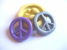 Peace sign 25mm flexible silicone mold for fondant chocolate & more