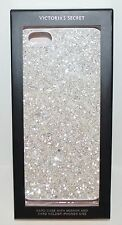 VICTORIA'S SECRET WHITE GLITTER IPHONE 6 6S HARD CASE SLEEVE MIRROR CARD HOLDER